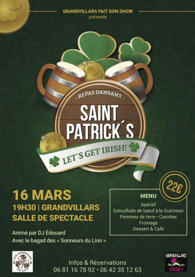 Affiche Saint Patrick 2019