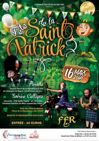 Affiche Saint Patrick Belfort