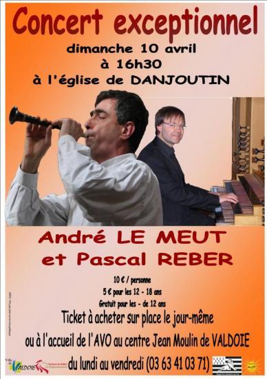 Concert Pascal REBER et André LE MEUT