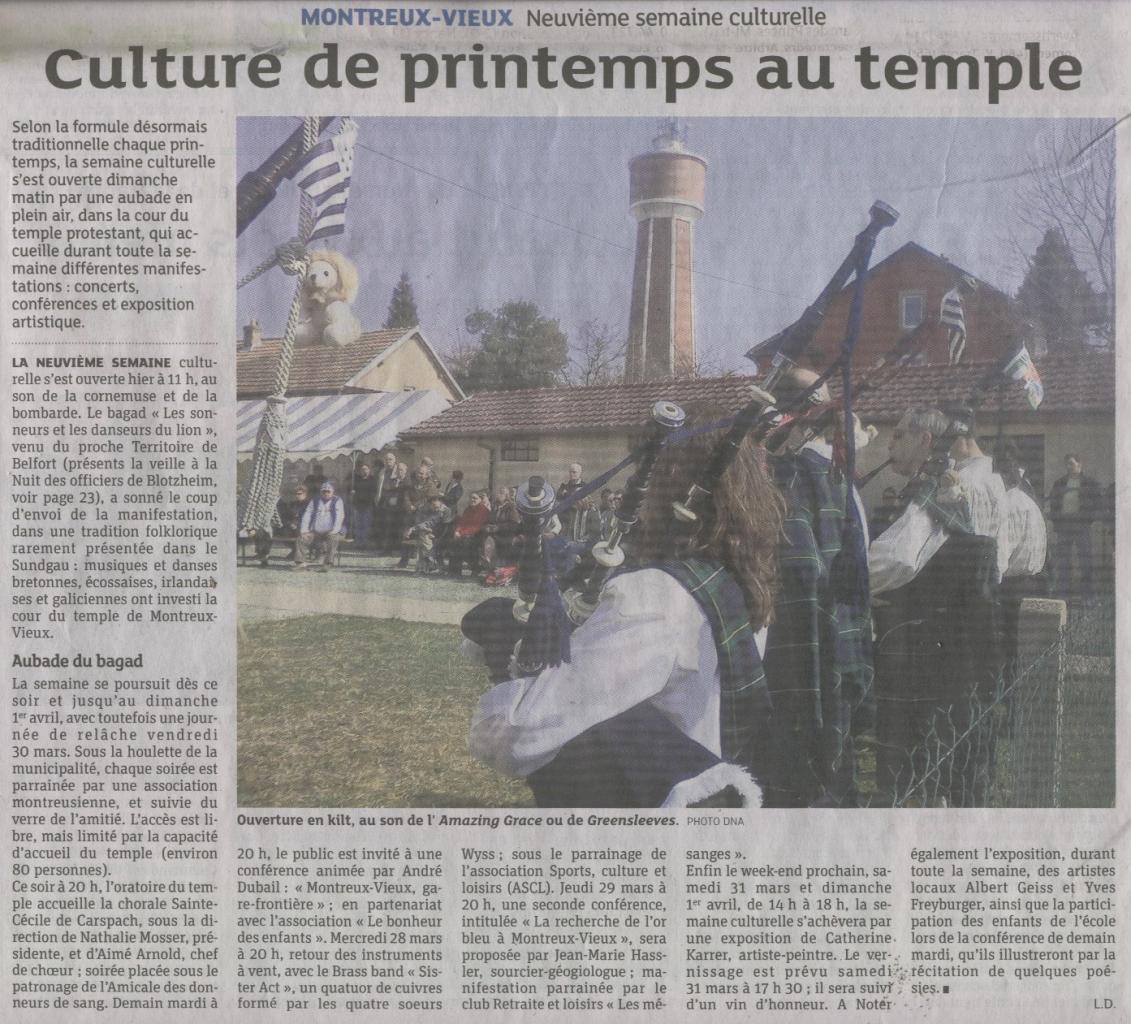 26-03-2012 DERNIERES NOUVELLES D'ALSACE