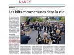 2015 10 05 L'Est Républicain Nancy